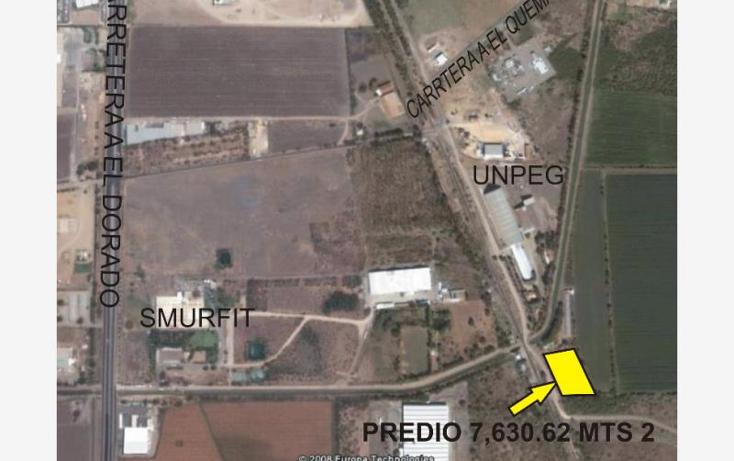 Foto de terreno comercial en venta en  , el quemadito, culiac?n, sinaloa, 877425 No. 01