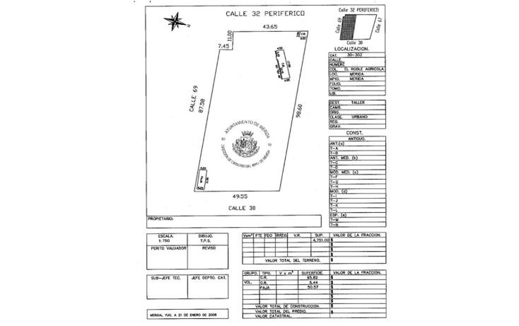 Foto de terreno habitacional en venta en  , el roble, m?rida, yucat?n, 1410751 No. 02