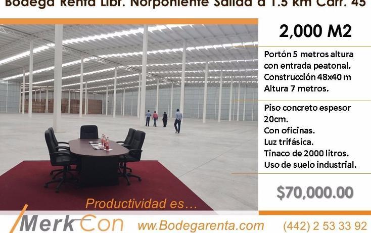 Foto de nave industrial en renta en  , el romeral, corregidora, querétaro, 3425129 No. 01