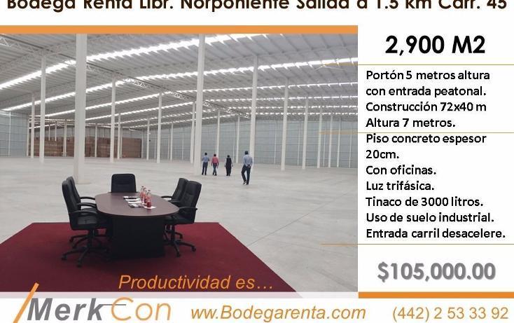 Foto de nave industrial en renta en  , el romeral, corregidora, querétaro, 3425562 No. 01