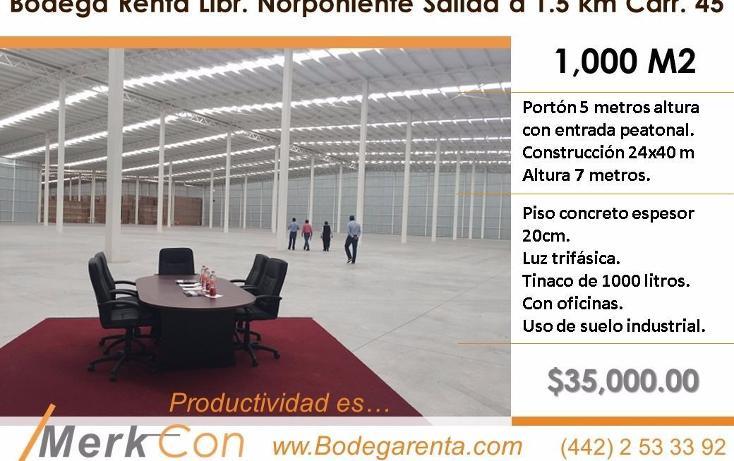 Foto de nave industrial en renta en  , el romeral, corregidora, querétaro, 3427489 No. 01