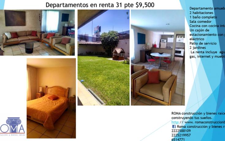 Foto de departamento en renta en, el vergel, tehuacán, puebla, 1699962 no 01