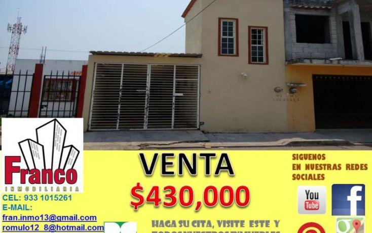 Foto de casa en venta en enrrique priego oropeza, gobernadores, comalcalco, tabasco, 1934548 no 01