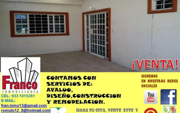 Foto de casa en venta en enrrique priego oropeza, gobernadores, comalcalco, tabasco, 1934548 no 02