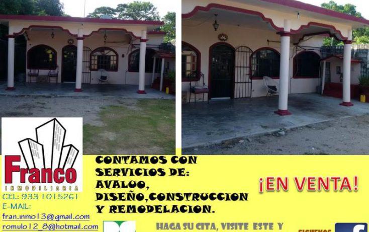 Foto de casa en venta en entrada a allende, cap reyes hernandez 2a secc, comalcalco, tabasco, 1449897 no 01