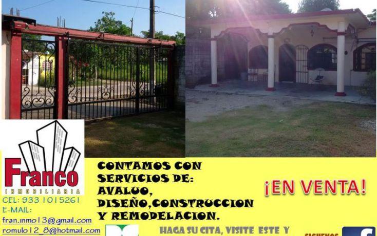 Foto de casa en venta en entrada a allende, cap reyes hernandez 2a secc, comalcalco, tabasco, 1449897 no 03