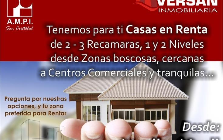 Foto de casa en renta en  , fátima, san cristóbal de las casas, chiapas, 1521437 No. 01