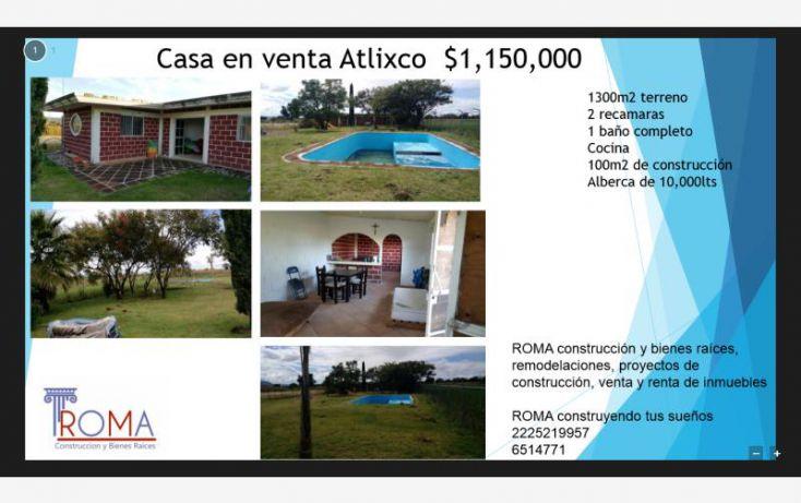 Foto de casa en venta en fed atlico 197, atlixco 90, atlixco, puebla, 1541552 no 01