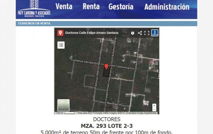 Foto de terreno habitacional en venta en felipe amaro santana 2, alfredo v bonfil, benito juárez, quintana roo, 1015911 no 01