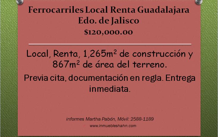 Foto de local en renta en  , ferrocarril, guadalajara, jalisco, 1182193 No. 01