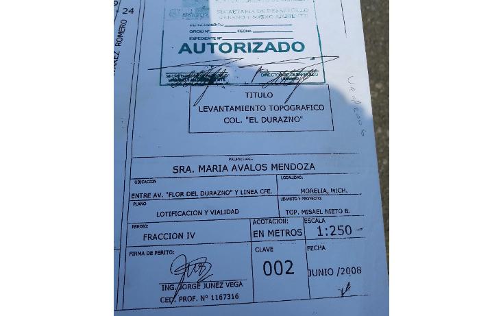 Foto de terreno comercial en venta en  , flor del durazno, morelia, michoac?n de ocampo, 1940850 No. 09