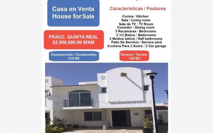 Foto de casa en venta en fracc quinta real 1, quinta real, irapuato, guanajuato, 1670976 no 01