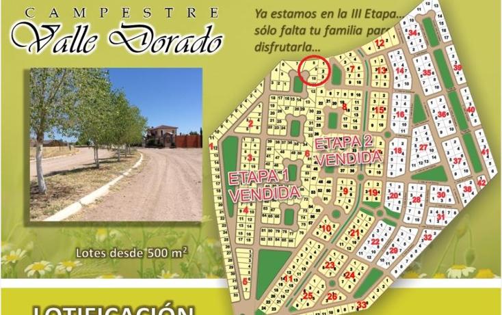Foto de terreno habitacional en venta en  , fraccionamiento valle dorado, santa isabel, chihuahua, 1447021 No. 03