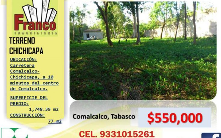 Foto de rancho en venta en francisco j mina, buena vista, comalcalco, tabasco, 1433841 no 01