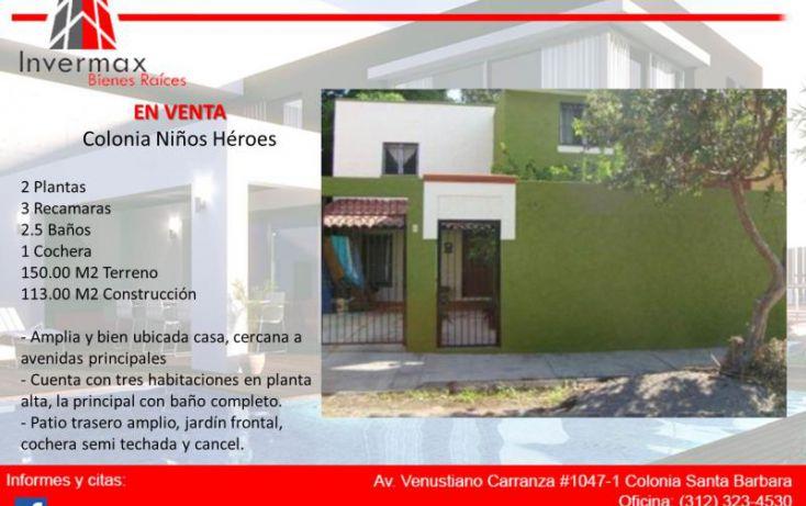 Foto de casa en venta en francisco marquez 654, niños héroes, colima, colima, 1767248 no 02