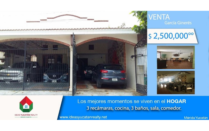 Foto de casa en venta en  , garcia gineres, mérida, yucatán, 1408585 No. 01