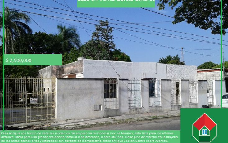 Foto de casa en venta en, garcia gineres, mérida, yucatán, 1417697 no 01
