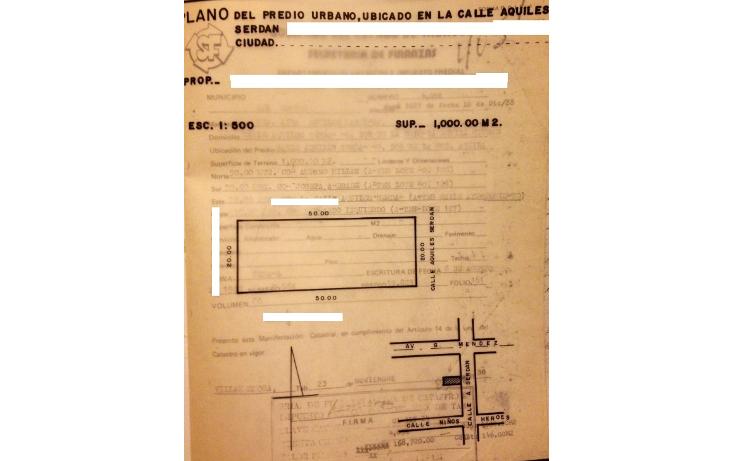Foto de terreno comercial en venta en  , gil y s?enz (el ?guila), centro, tabasco, 1196695 No. 01