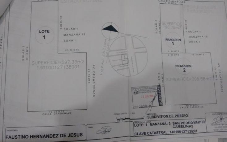 Foto de terreno habitacional en venta en girasoles 100, benito juárez, querétaro, querétaro, 1593936 no 03