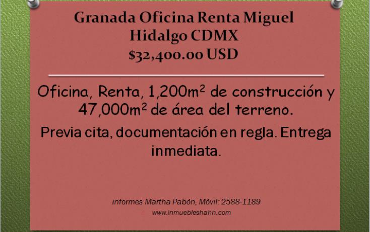 Foto de oficina en renta en, granada, miguel hidalgo, df, 1292323 no 01