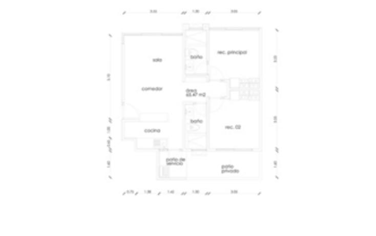 Foto de departamento en venta en  , granjas coapa, tlalpan, distrito federal, 1468971 No. 08