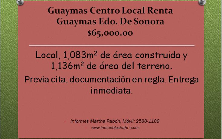 Foto de local en renta en  , guaymas centro, guaymas, sonora, 1087257 No. 01