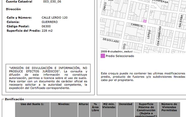 Foto de terreno comercial en venta en  , guerrero, cuauhtémoc, distrito federal, 1631004 No. 06