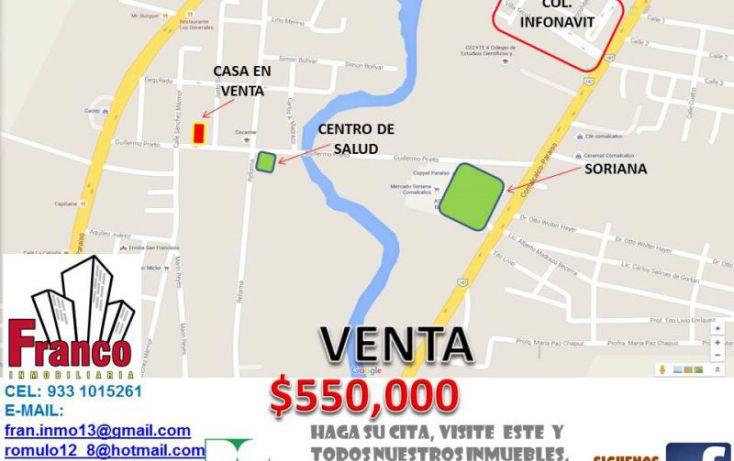 Foto de casa en venta en guillermo prieto, san silverio, comalcalco, tabasco, 1616712 no 03