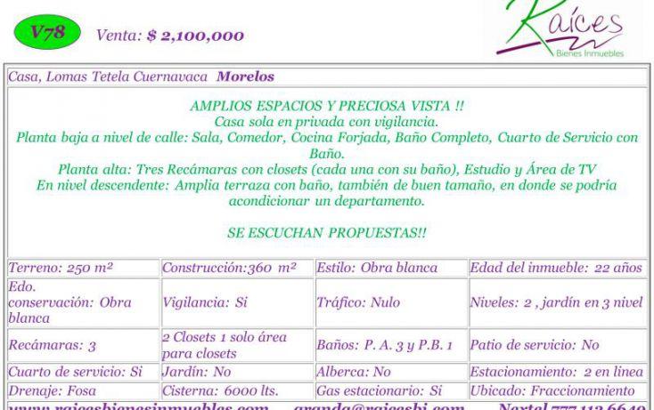 Foto de casa en venta en, hacienda tetela, cuernavaca, morelos, 1082405 no 02
