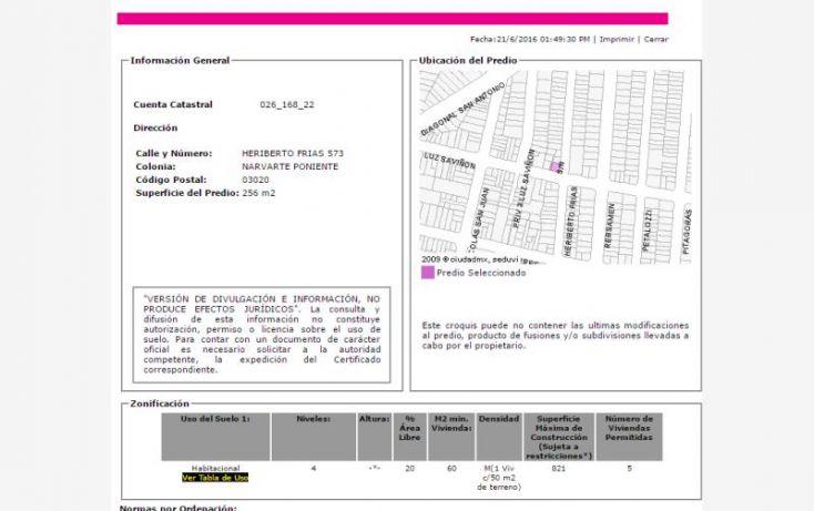 Foto de departamento en venta en heriberto frias 573, narvarte poniente, benito juárez, df, 2008504 no 01