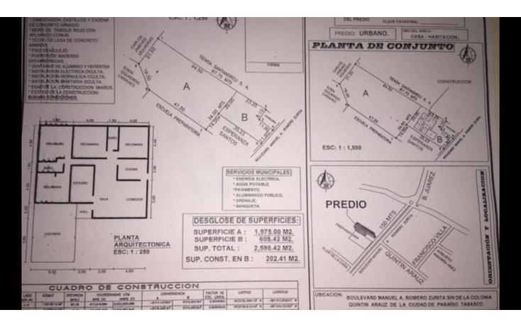 Foto de terreno comercial en venta en  , hueso de puerco (colonia quintín arauz), paraíso, tabasco, 1291777 No. 01