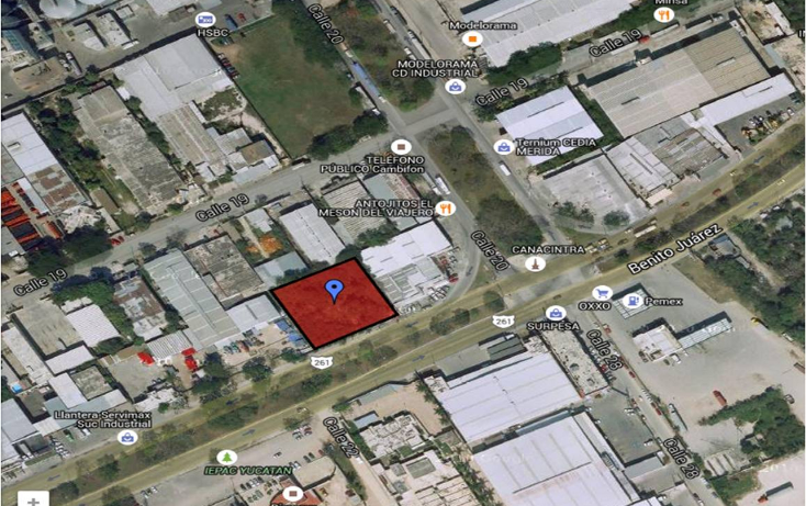 Foto de terreno comercial en venta en  , industrial, mérida, yucatán, 1040033 No. 01