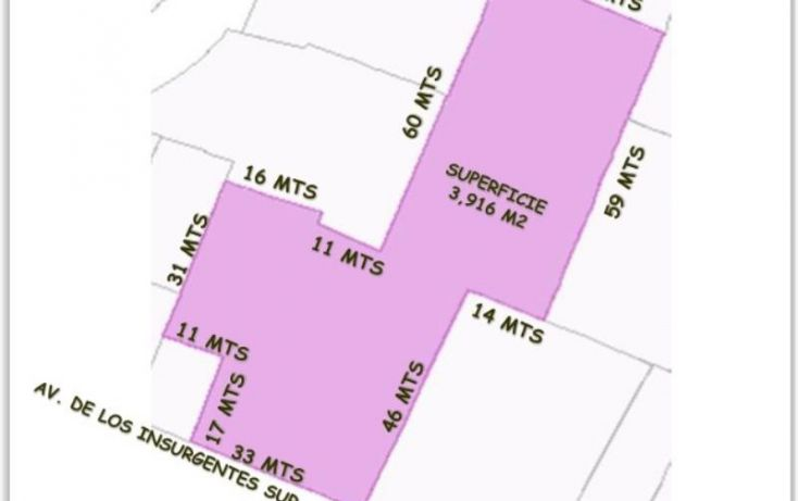 Foto de terreno comercial en venta en insurgentes sur, tlalpan, tlalpan, df, 972175 no 01