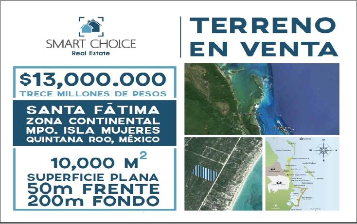 Foto de terreno comercial en venta en  , isla blanca, isla mujeres, quintana roo, 1612520 No. 01