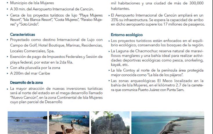 Foto de terreno comercial en venta en  , isla blanca, isla mujeres, quintana roo, 1612520 No. 02