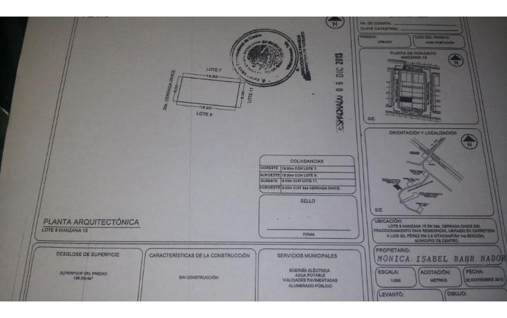 Foto de terreno habitacional en venta en  , ixtacomitan 1a secci?n, centro, tabasco, 1738568 No. 01