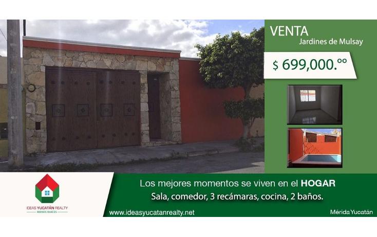 Foto de casa en venta en  , jardines de nueva mulsay, mérida, yucatán, 1516170 No. 01