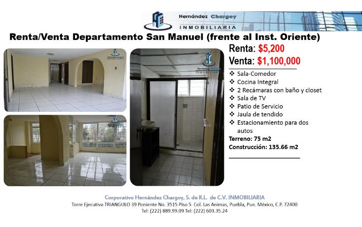 Foto de departamento en venta en  , jardines de san manuel, puebla, puebla, 1051683 No. 02