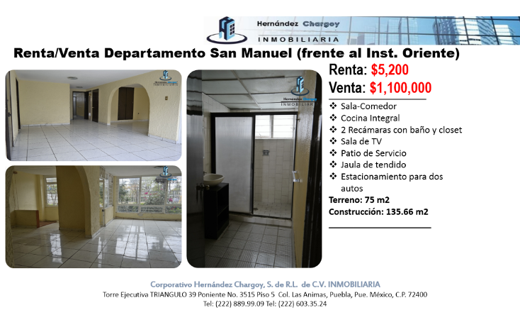 Foto de departamento en renta en  , jardines de san manuel, puebla, puebla, 945381 No. 02