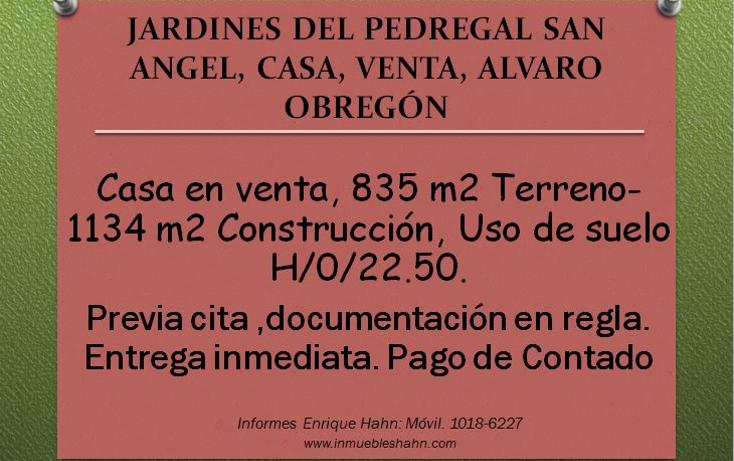Foto de casa en venta en  , jardines del pedregal, álvaro obregón, distrito federal, 2013326 No. 01