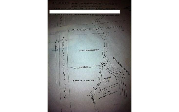 Foto de terreno habitacional en venta en  , juan crispín, tuxtla gutiérrez, chiapas, 1292569 No. 02