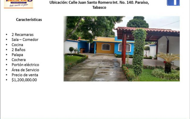 Foto de casa en venta en juan santo romero, el limoncito, paraíso, tabasco, 1735130 no 05