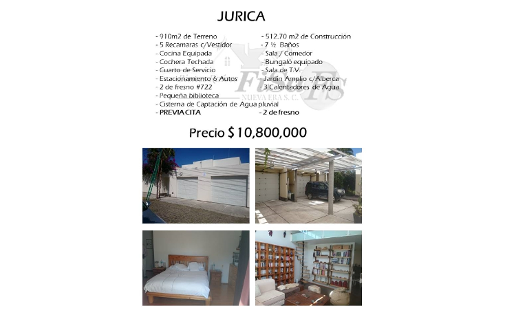 Foto de casa en venta en  , jurica misiones, quer?taro, quer?taro, 1517929 No. 01