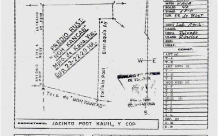 Foto de terreno comercial en venta en, kaua, kaua, yucatán, 1099687 no 03