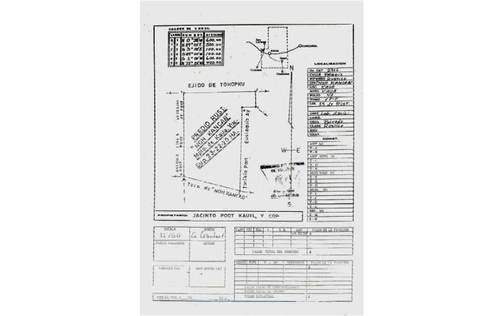 Foto de terreno comercial en venta en  , kaua, kaua, yucatán, 1099687 No. 03