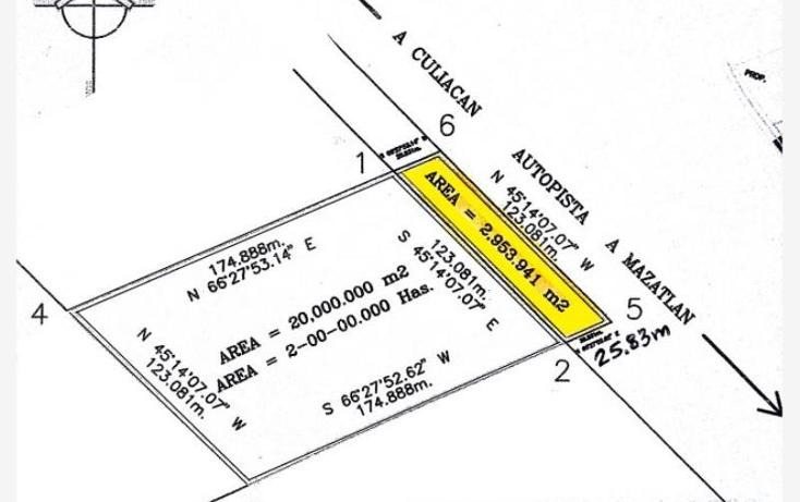 Foto de terreno comercial en venta en  kilometro 11, el venadillo, mazatlán, sinaloa, 1752458 No. 07