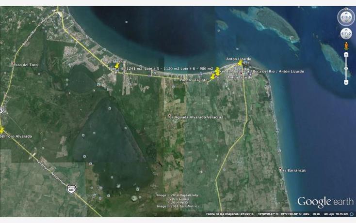 Foto de terreno habitacional en venta en  kilometro 13.5, anton lizardo, alvarado, veracruz de ignacio de la llave, 894601 No. 01