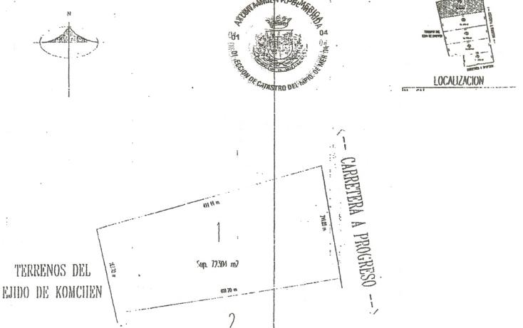 Foto de terreno habitacional en venta en  , komchen, mérida, yucatán, 1062995 No. 01