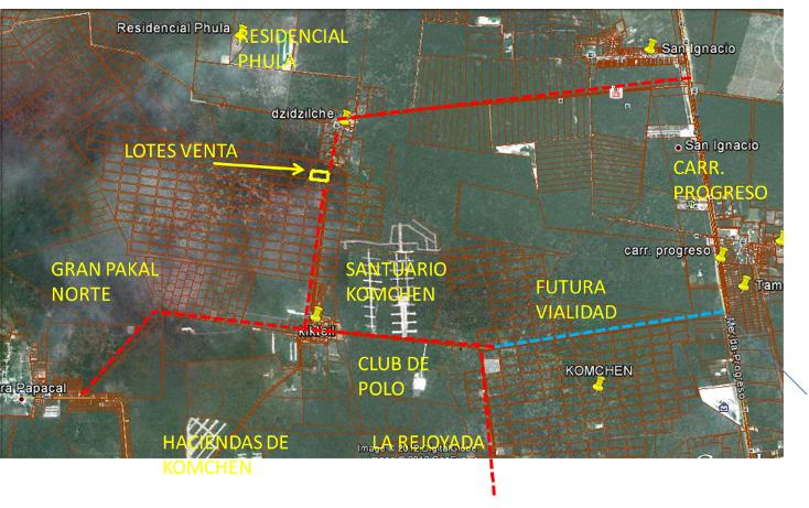 Foto de terreno habitacional en venta en  , komchen, mérida, yucatán, 1128815 No. 02