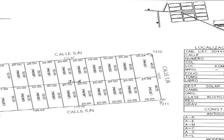 Foto de terreno habitacional en venta en, komchen, mérida, yucatán, 1353639 no 04